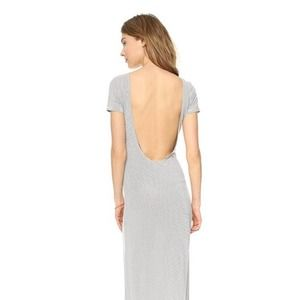 Lovers + Friends Bare Back Striped Maxi Dress